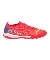 PUMA ULTRA 1.3 Sneller Voetbal Pro Cage Rood Turkoois Wit F01