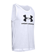 Under Armour Sportstyle Logo Tank Top Wit F101