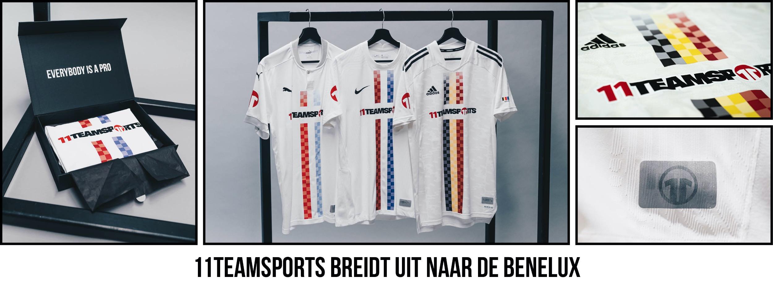 11teamsports breidt uit naar de Benelux